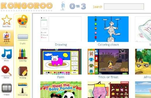 Kongoro: Pagina Web Para Niños, Cientos de Juegos y Actividades ...