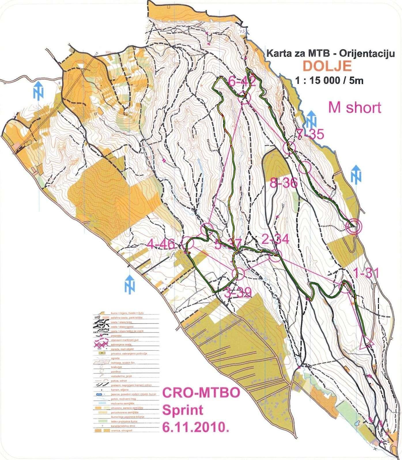 MTB-O CROATIA 2010 - Dotrščina Dolje